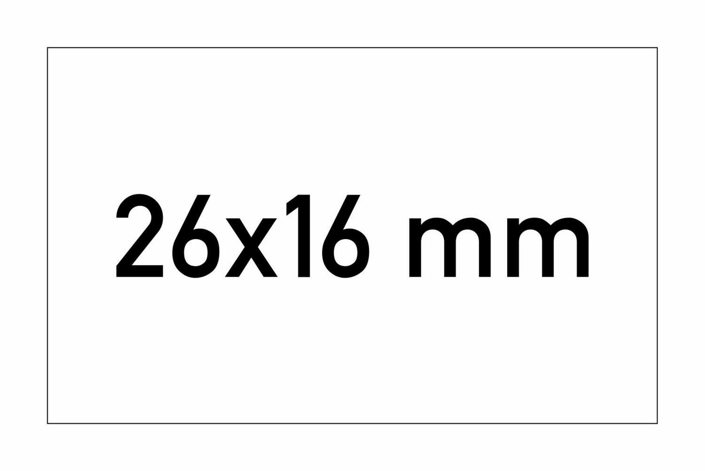 Etiketten 26x16 mm rechteckig weiss G2 - permanent
