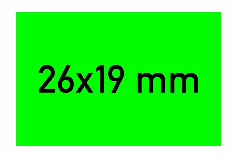 Etiketten 26x19 mm grün