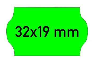 Etiketten 32x19 mm grün