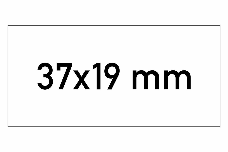 Etiketten 37x19 mm weiss G1 - ablösbar
