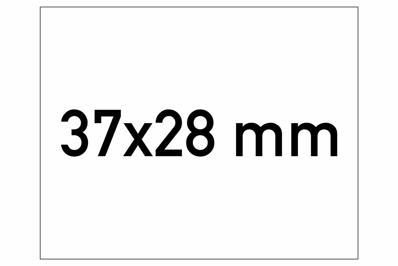 Etiketten 37x28 mm weiss G1 - ablösbar