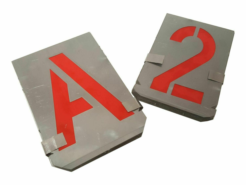 Metall Schablone Buchstaben