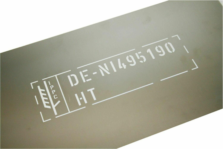 IPPC Schablone aus Aluminium