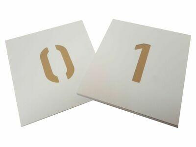 Kunststoff Schablone Zahlen