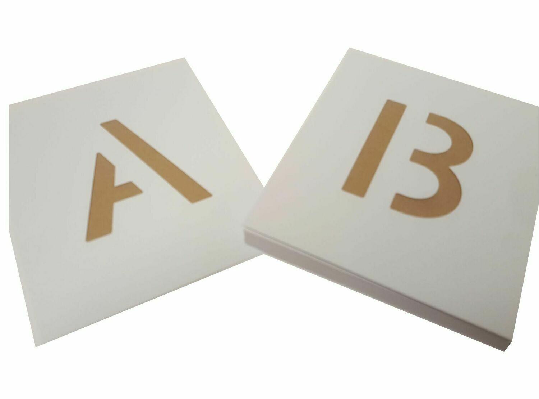 Kunststoff Schablone Buchstaben