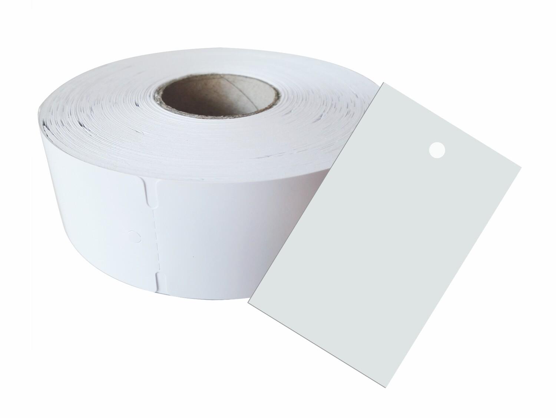 500 Kartonetiketten auf Rolle 60x40 mm