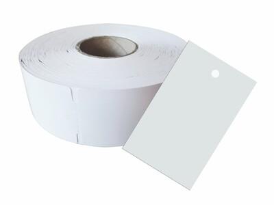 1.000 Kartonetiketten auf Rolle 35x70 mm