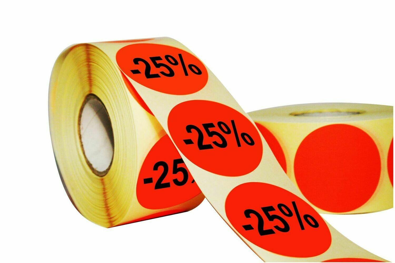 Aktionsetiketten 50 mm Durchmesser - 25 %