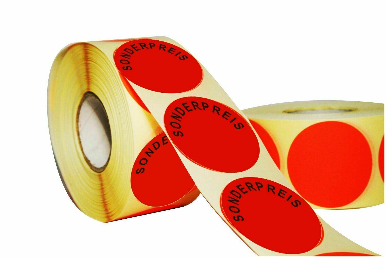 Aktionsetiketten 30 mm Durchmesser - Sonderpreis