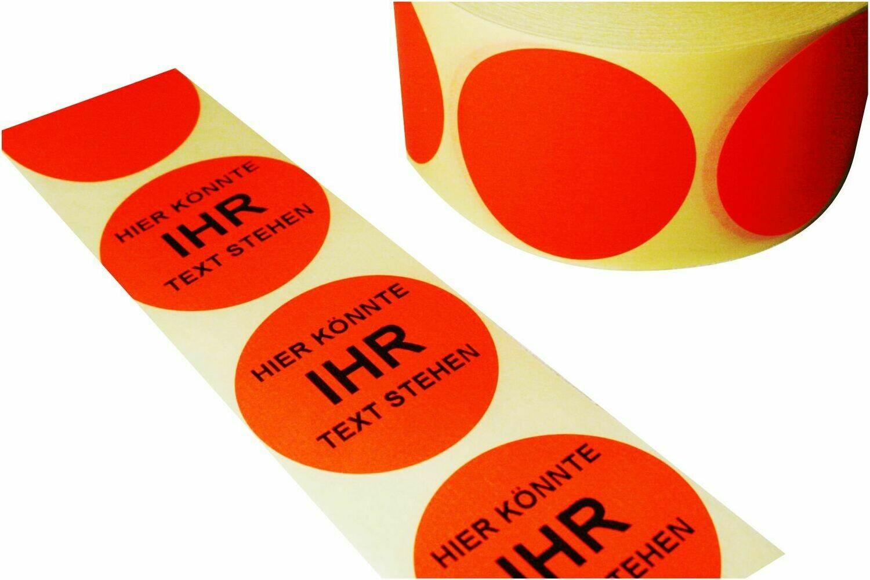 Aktionsetiketten 50 mm Durchmesser individuell bedruckt