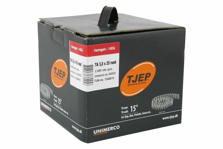 2.880 Dachpappnägel TA 30/25 - 25 mm Länge - feuerverzinkt