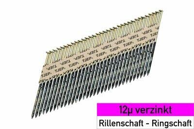 2.000 Streifennägel - Rundkopf - 3.1x80 mm 12µ verzinkt