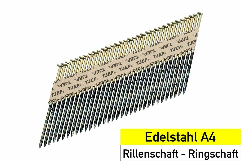 1.200 Streifennägel 31x63 Edelstahl rostfrei Rundkopf
