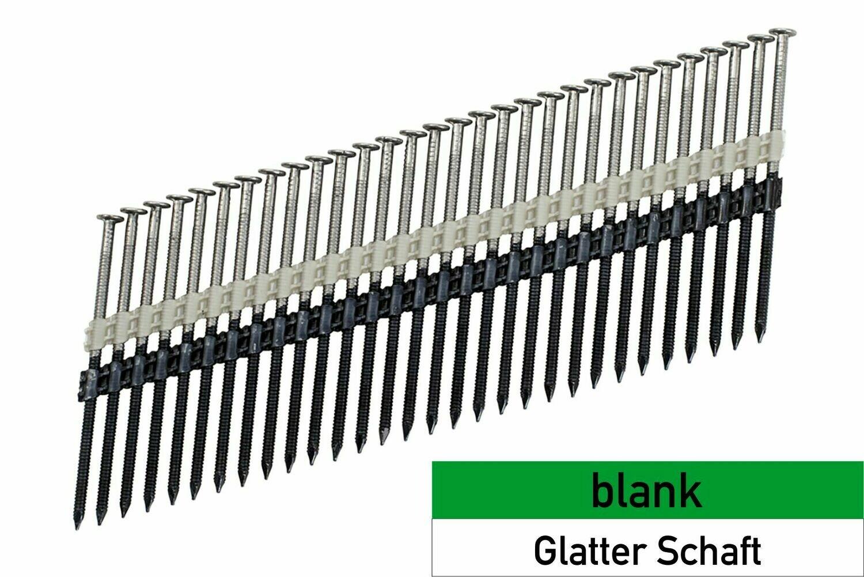 1.250 Streifennägel 3.8x130 blank - glatt - plastikgebunden
