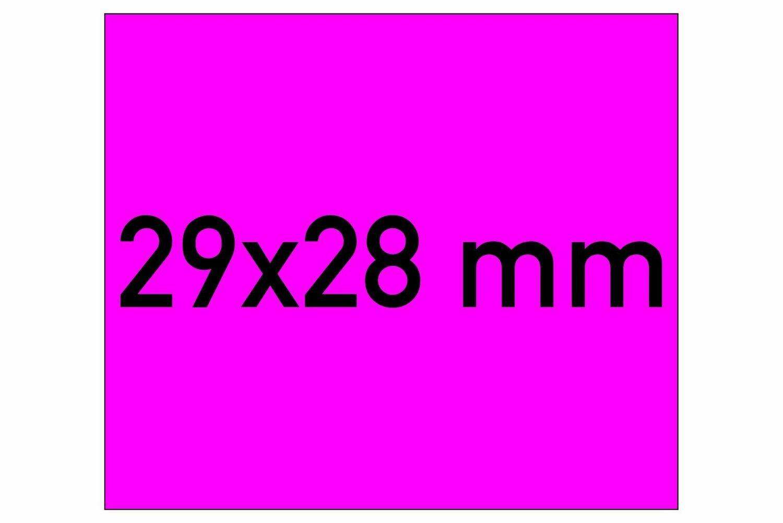 Etiketten 29x28 mm magenta