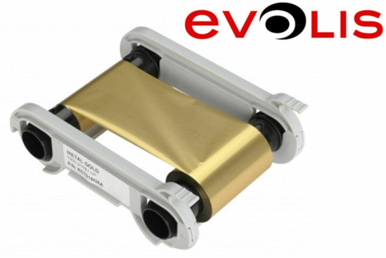 Farbband Evolis metallic gold RCT016NAA