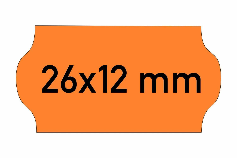Etiketten 26x12 mm orange