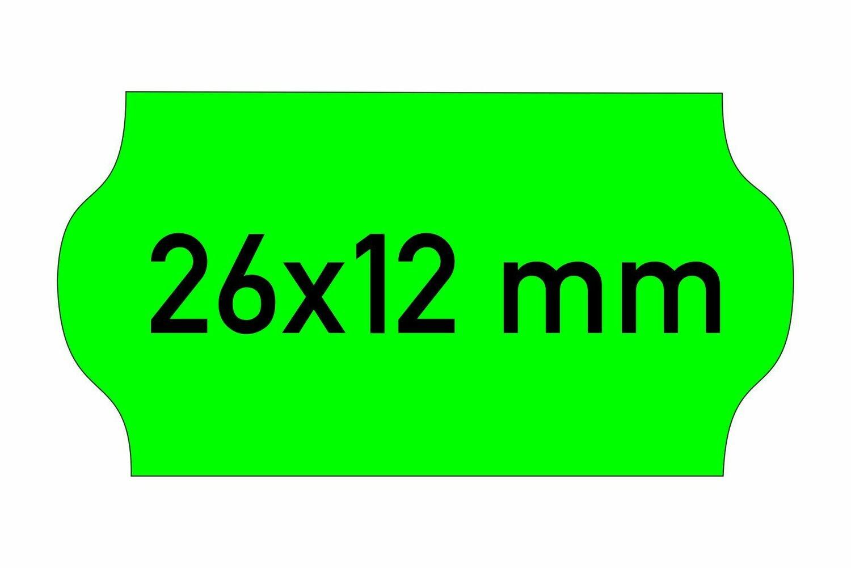 Etiketten 26x12 mm grün