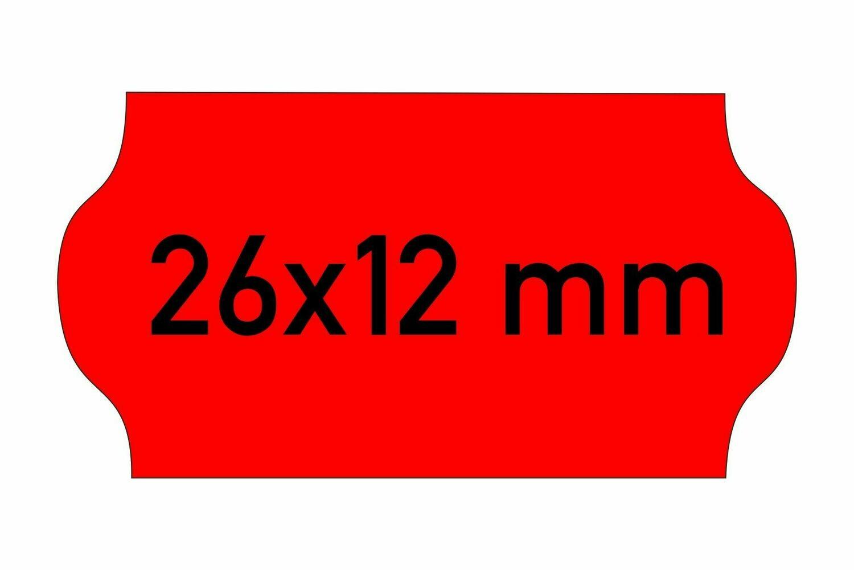 Etiketten 26x12 mm rot
