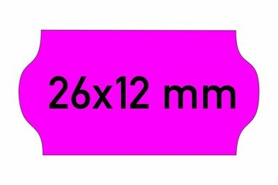 Etiketten 26x12 mm magenta