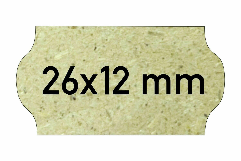 Etiketten 26x12 mm Gras Eco