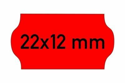 Etiketten 22x12 mm rot