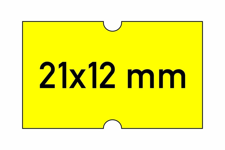 Etiketten 21x12 mm gelb