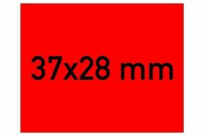 Etiketten 37x28 mm rot