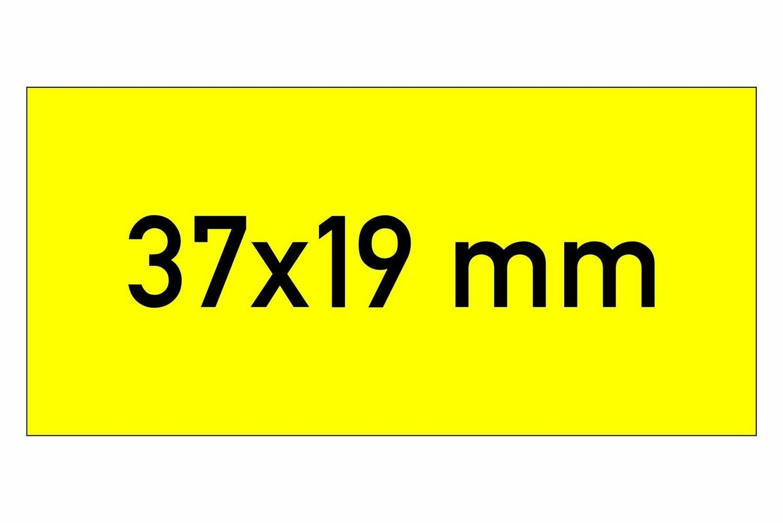 Etiketten 37x19 mm gelb