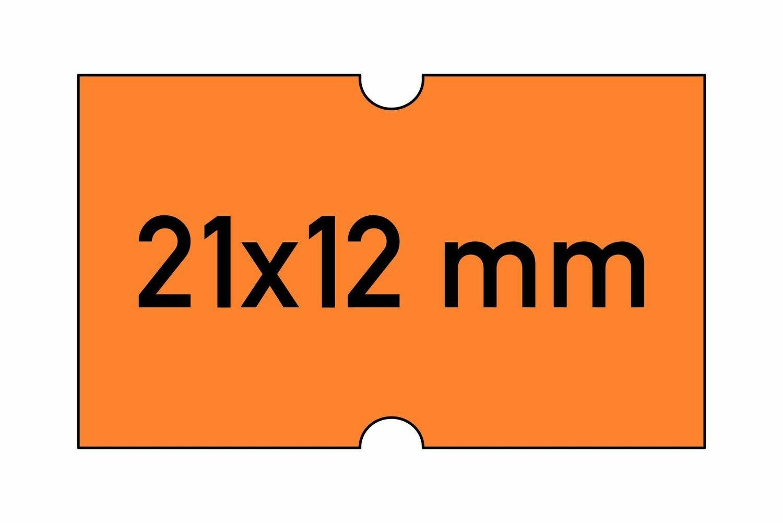 Etiketten 21x12 mm orange