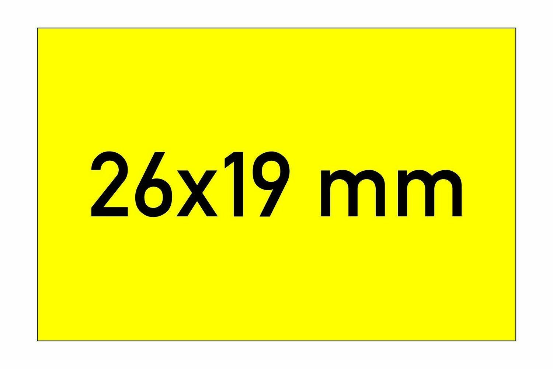 Etiketten 26x19 mm gelb