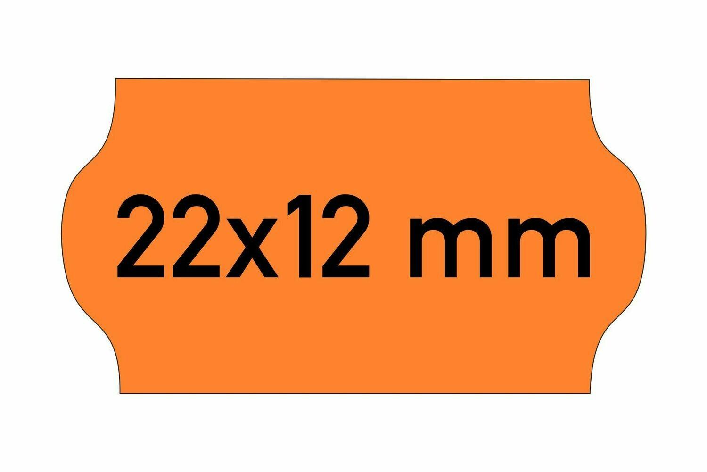 Etiketten 22x12 mm orange