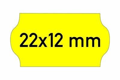 Etiketten 22x12 mm gelb