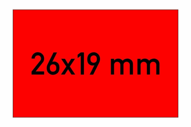 Etiketten 26x19 mm rot