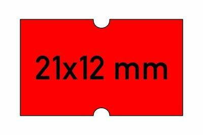 Etiketten 21x12 mm rot