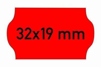 Etiketten 32x19 mm rot