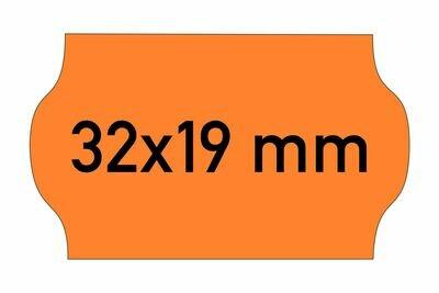 Etiketten 32x19 mm orange