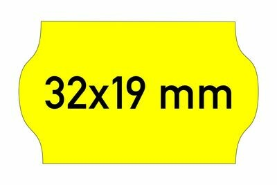 Etiketten 32x19 mm gelb