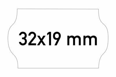 Etiketten 32x19 mm weiss