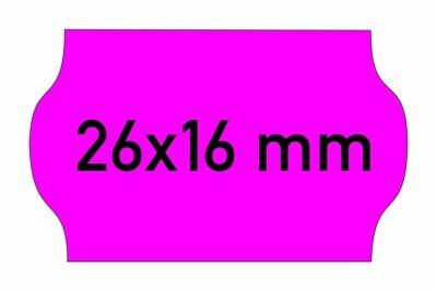 Etiketten 26x16 mm magenta
