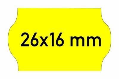 Etiketten 26x16 mm gelb