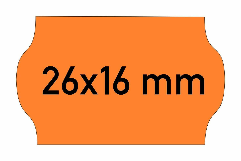 Etiketten 26x16 mm orange