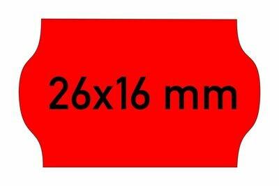 Etiketten 26x16 mm rot