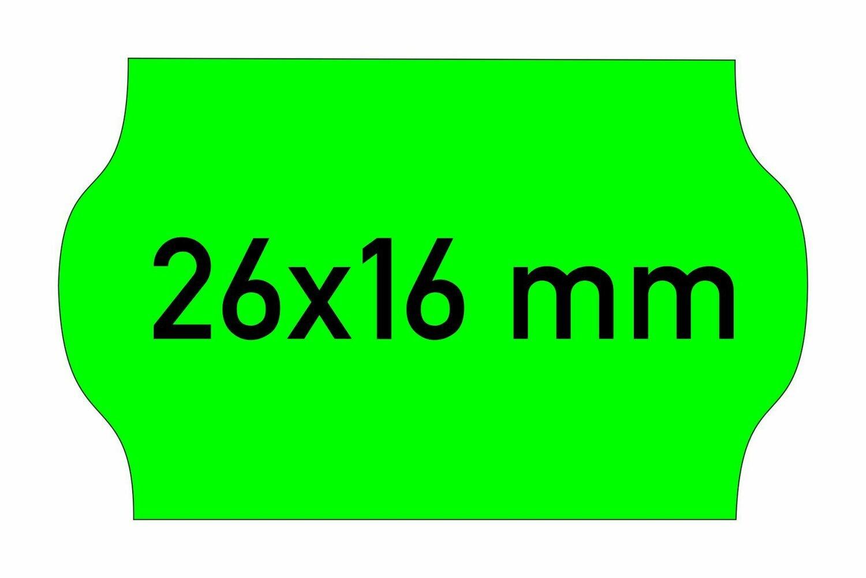 Etiketten 26x16 mm grün
