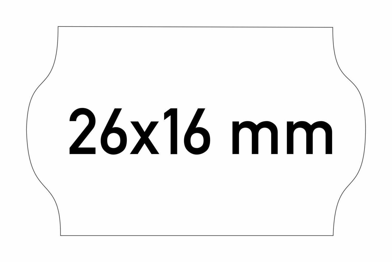 Etiketten 26x16 mm weiss