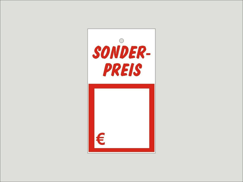 """1.000 Kartonetiketten auf Rolle 40x88 mm """"Sonderpreis"""""""