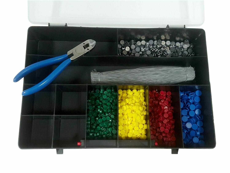 Plombenzange im Set - 1 Zange mit Seitenschneider + 500 Plomben + 500 Plombendraht