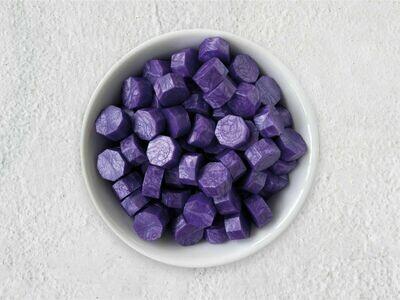 Siegelwachs in Perlen Violett - Granulat