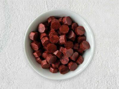 Siegelwachs in Perlen Burgunderrot - Granulat