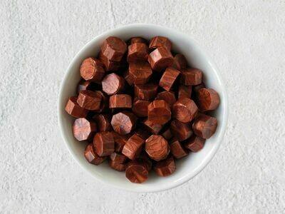 Siegelwachs in Perlen Rot-Kupfer - Granulat